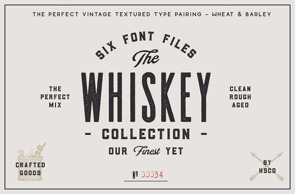 The Whiskey Font Collection Font