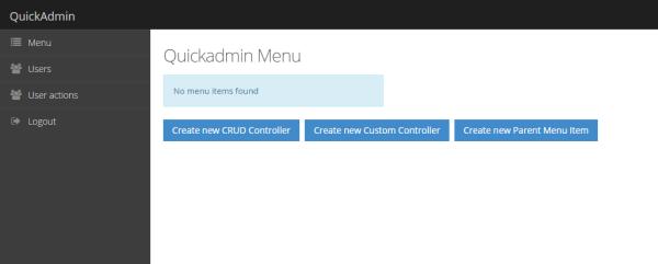 QuickAdmin Laravel admin panel