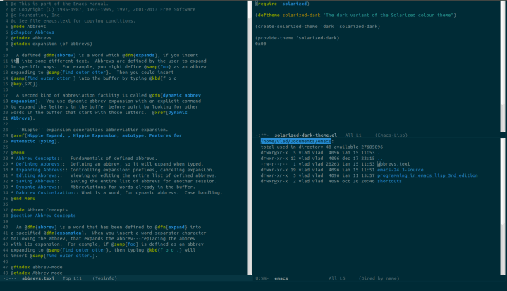 Solarized theme for Emacs