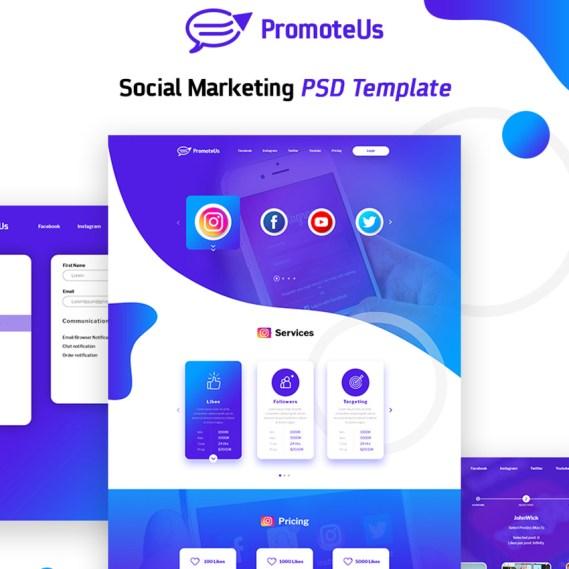 Social Marketing PSD Template