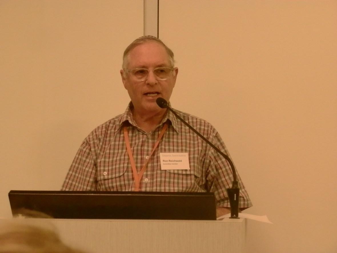 Ron Reichwald (thanking guest speaker)