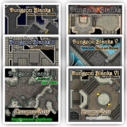 Dungeon Tile Bundle 6 Pack