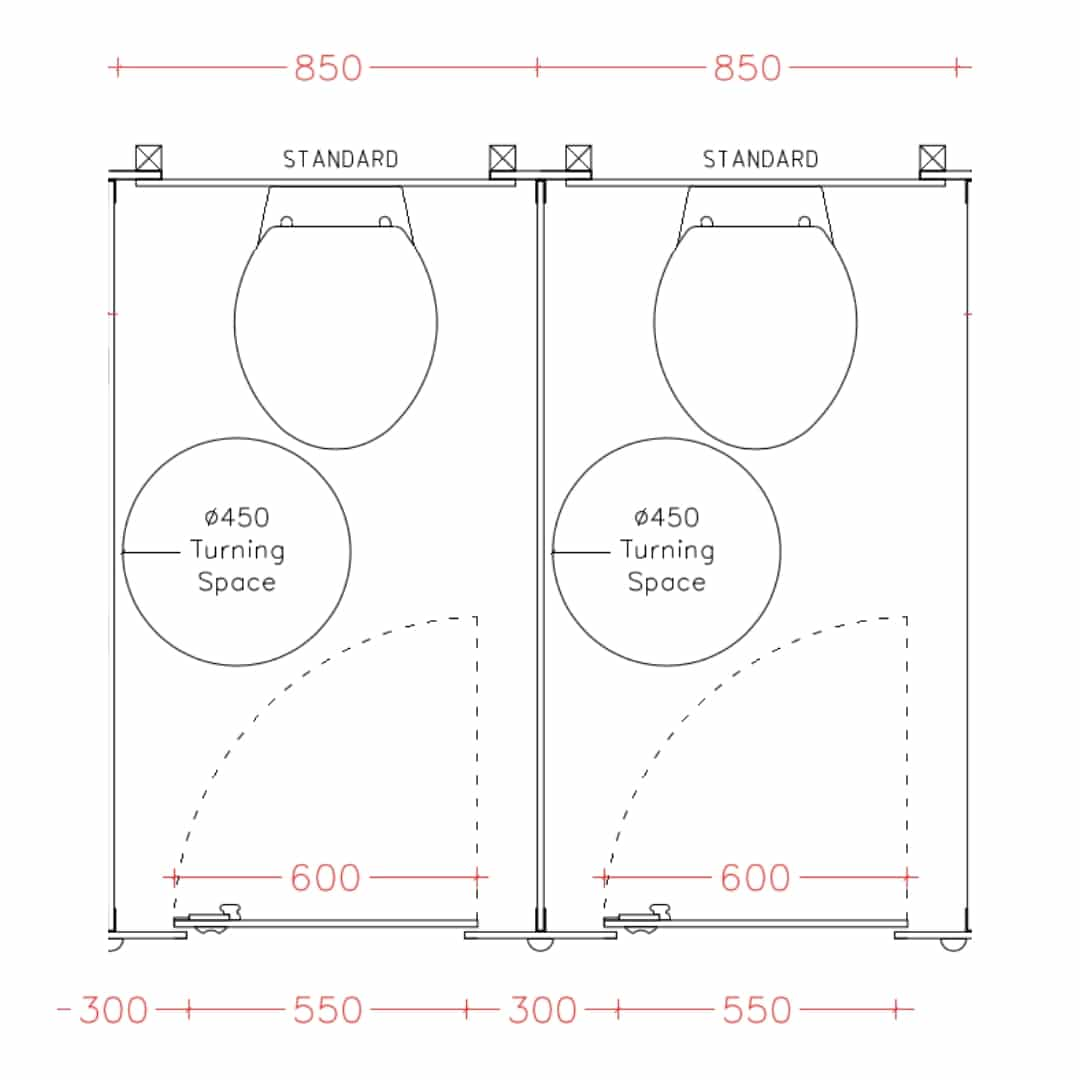 Toilet Cubicle Sizes Amp Dimensions Guide