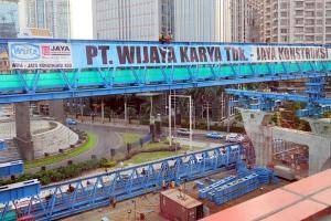 Salah satu proyek konstruksi yang ditangani PT Wijaya Karya (Persero) Tbk.