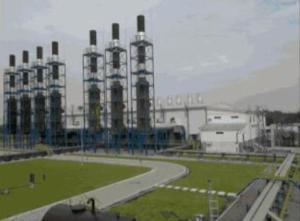 Bangunan PLTMG Duri di Bengkalis, Riau.
