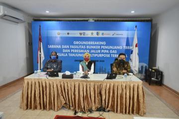 Pertamina Gandeng Pelindo I Bangun Fasilitas Penyimpanan BBM dan Pipa Gas Kuala Tanjung