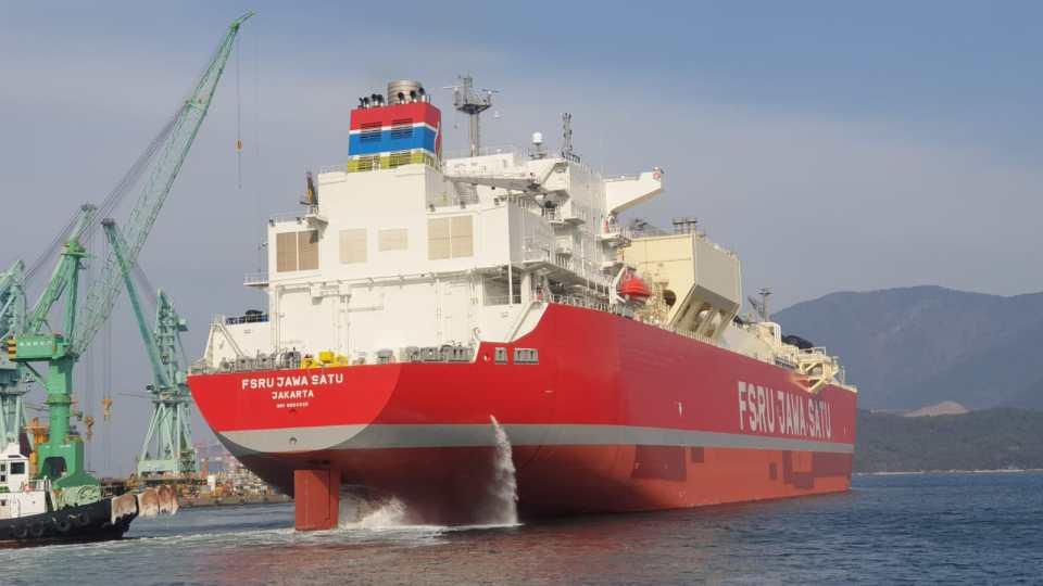 Tinggalkan Galangan Kapal Samsung Heavy, Kapal FSRU Jawa Satu Tiba di Cilamaya Februari 2021