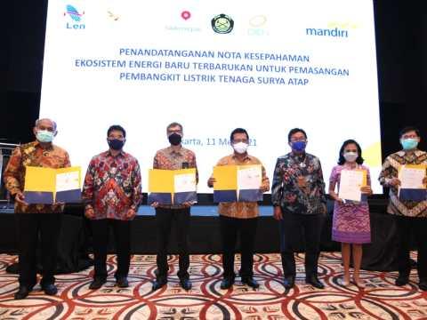 Bank Mandiri Sediakan Pembiayaan PLTS Atap untuk Pegawai DEN, SKK Migas dan PT LEN