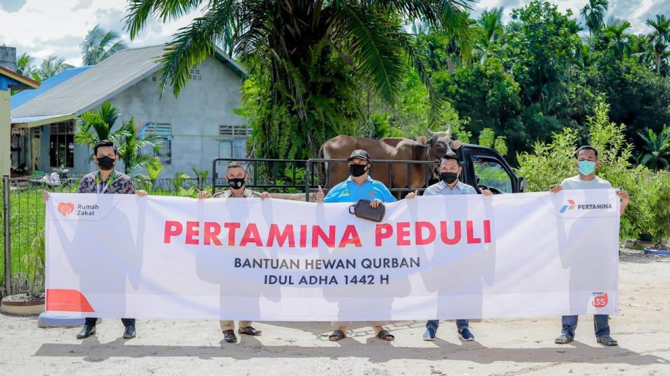 Pertagas Salurkan Bantuan Hewan Kurban ke 109 Titik Lokasi