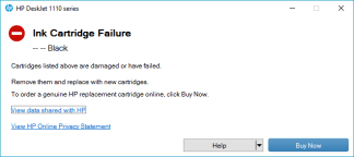 catridge failure