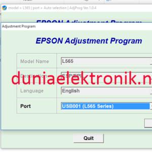 Resetter Epson L565