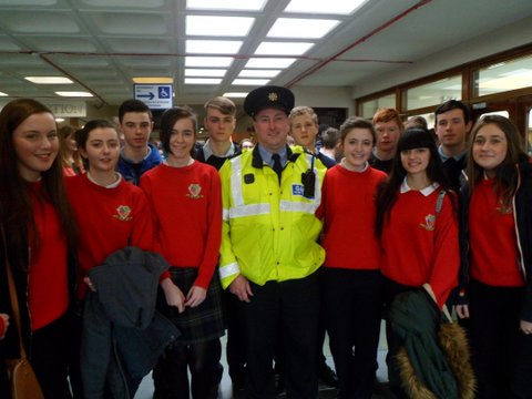 Transition Year Students attended the 'Think Twice Road Safety Awareness Show for Teenagers'in Leisureland Galway. This show was organised by Galway County and City Council and featured the Garda Siochana, the Fire and Ambulance Service and an A&E Consultant. A survivor of a road crash and a family member of a road fatality spoke to the students about their experiences. It was a most informative and graphic show and highlighted the consequences of careless driving.