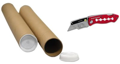 Shipping Tube and Box Cutter