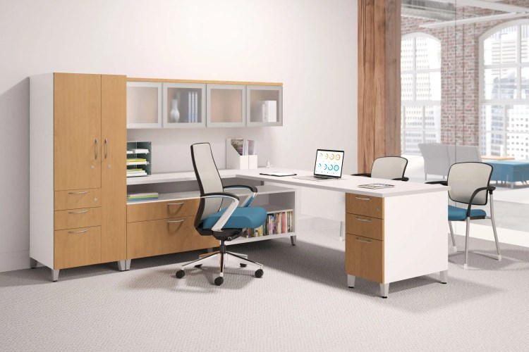 simplified office space