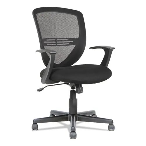 Swivel/Tilt Mesh Mid-Back Task Chair, Fixed Cantilevered Arms