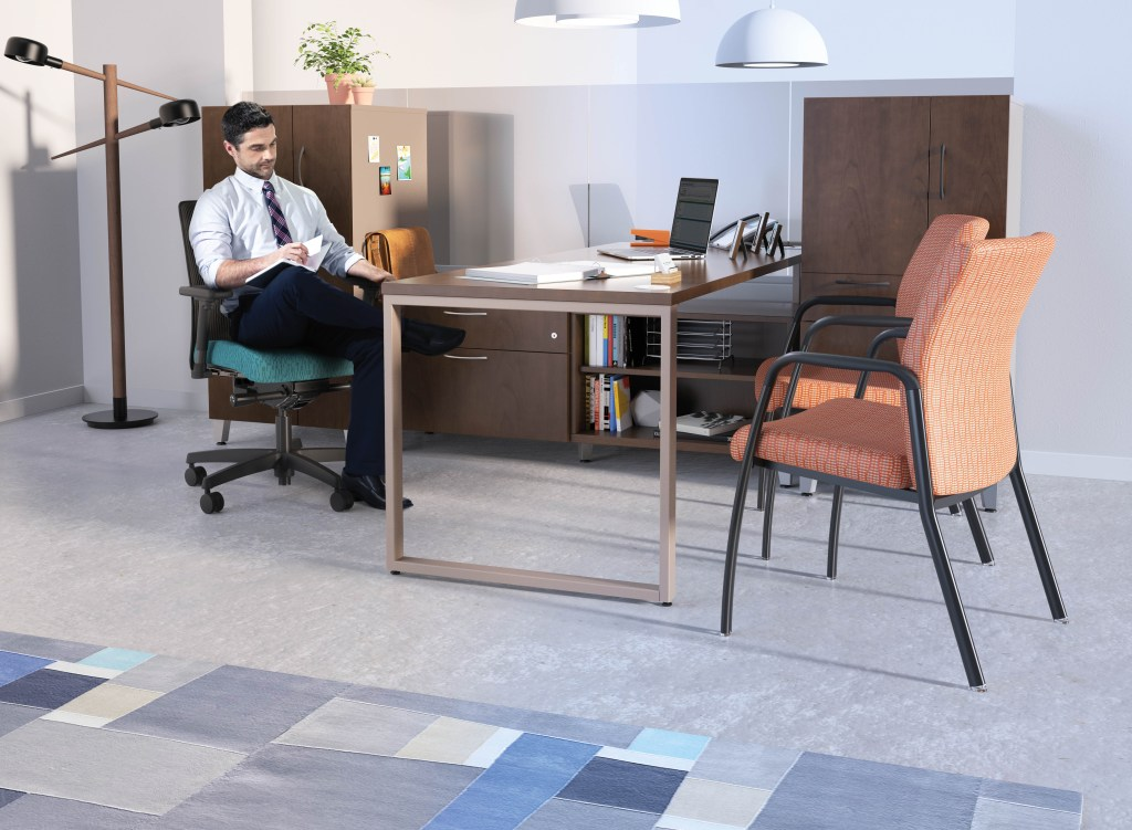 mid-century modern office furniture
