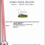 Dunolia organik zeytinyağı marka tescil belgesi