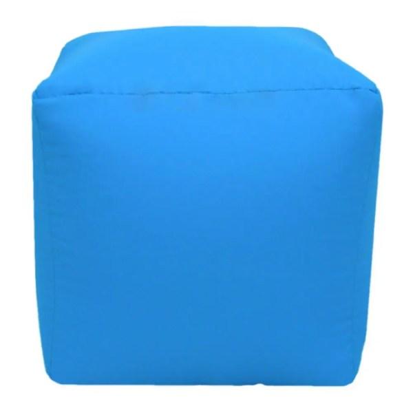 aqua blue water resistant cubes footstools