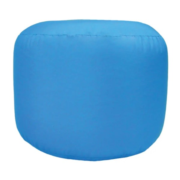 aqua blue water resistant outdoor footstool pouffe