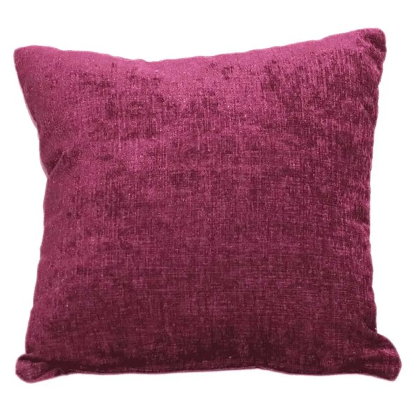 aubergine purple chenille scatter cushion
