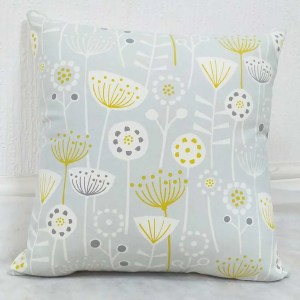 bergen grey ochre patterned scatter cushions