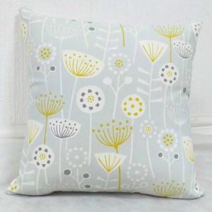 bergen grey ochre patterned scatter cushions