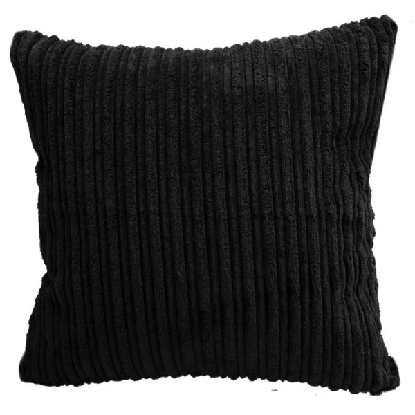 black chunky cord scatter cushions covers