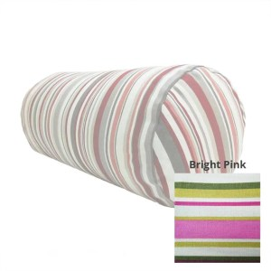 bright pink goa striped cotton bolster cylinder cushions