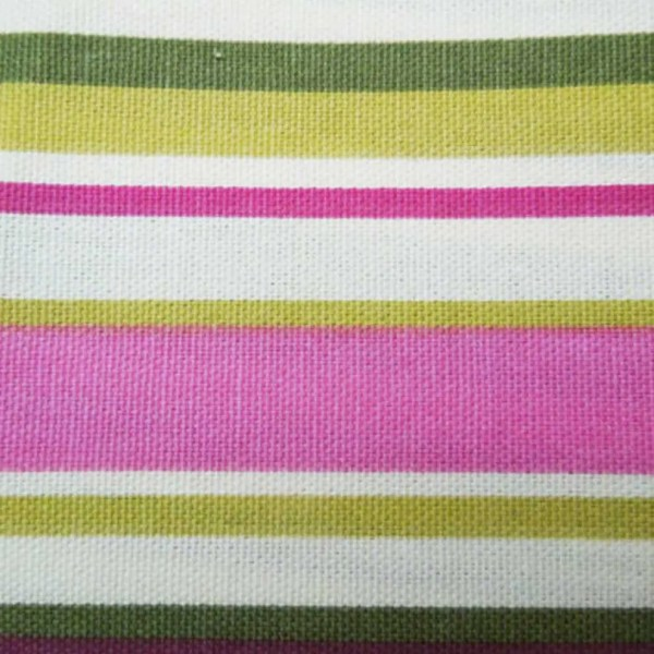 bright pink goa striped cotton fabric