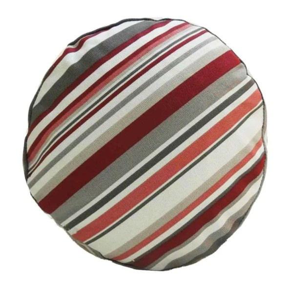 cherry red goa striped cotton bolster cylinder cushions