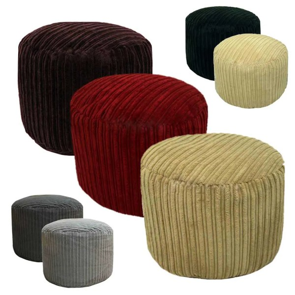 chunky cord round footstool pouffe