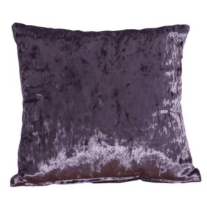 crushed velvet cushion grape purple