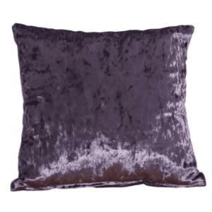 crushed velvet cushion grape purple