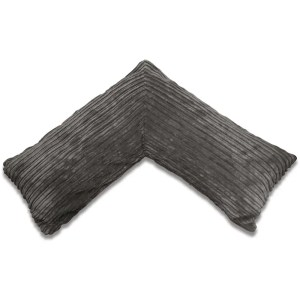 dark grey pregnancy v pillow chunky cord