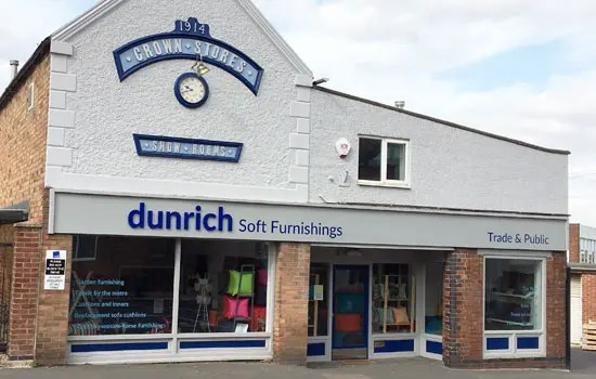 Dunrich Soft Furnishings Store based in Swadlincote