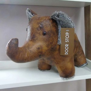 elephant weighted animal doorstop