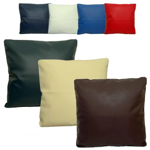 faux leather scatter cushions covers all colours