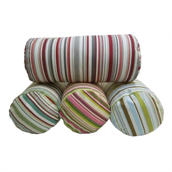 goa striped cotton bolster cylinder cushions