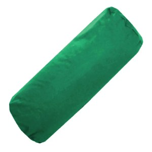 green cotton drill bolster cylinder cushions covers
