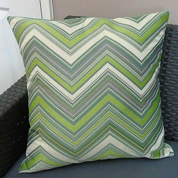 green herringbone pattern scatter cushion or cover