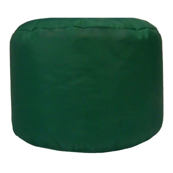 green water resistant outdoor footstool pouffe