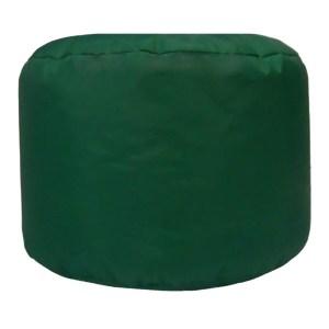 green water resistant outdoor footstool pouffe