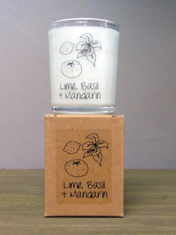 heaven scents lime basil mandarin natural wax candles