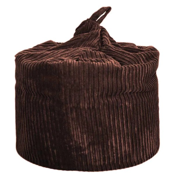 large brown chunky cord beanbag