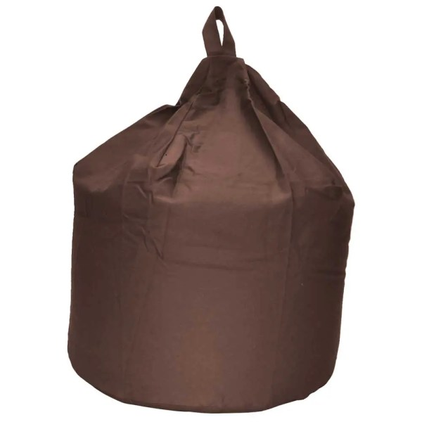 large brown cotton drill beanbag