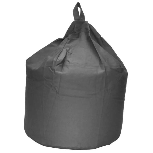 large grey cotton drill beanbag