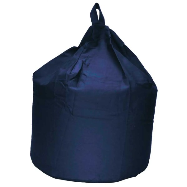 large navy blue cotton drill beanbag