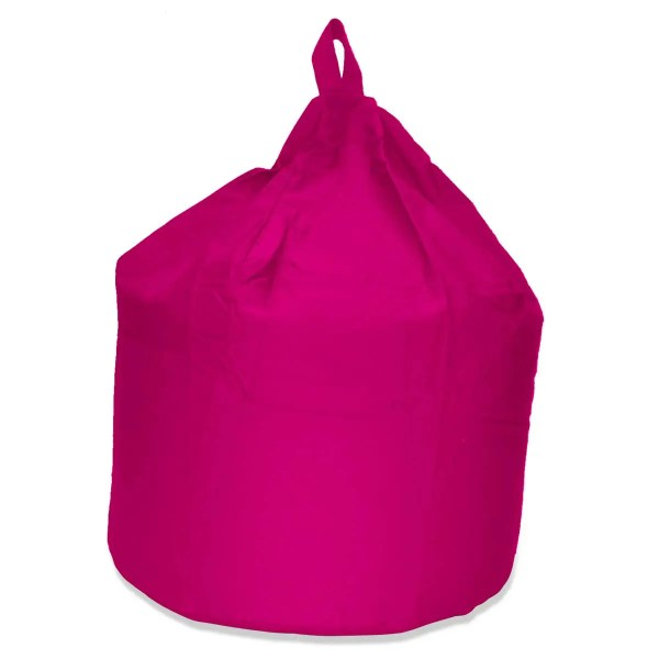 large pink cotton drill beanbag