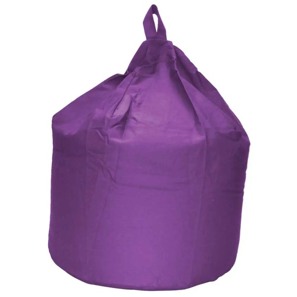 large purple cotton drill beanbag