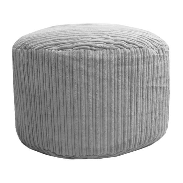 light dark grey pouffe footstool